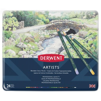 Derwent Artists Pencils 24 Tin
