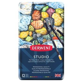 Derwent Studio Pencils 12 Tin