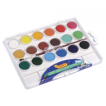Jovi Watercolours plastic box 18 bars 22mm assorted colours