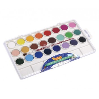 Jovi Watercolours plastic box 24 bars 22mm assorted colours