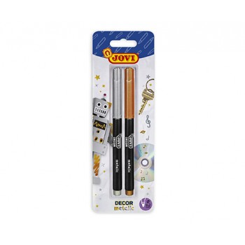 Jovi felt-tips pens JOVIDECOR Metalic blister 2 - gold and silver