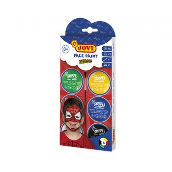 Jovi cream Face Paint kit HEROES 6 jars 8 ml + accessories