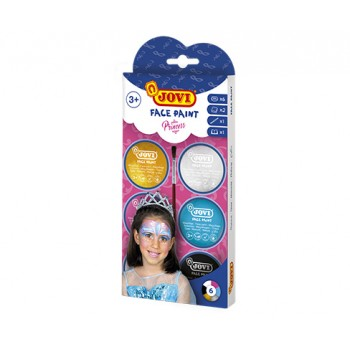 Jovi cream Face Paint kit PRINCESS 6 jars 8 ml + accessories