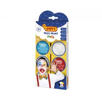 Jovi cream Face Paint kit PARTY 6 jars 8 ml + accessories
