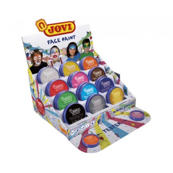 Jovi cream Face Paint kit display with 24 jars 20 ml assorted colours