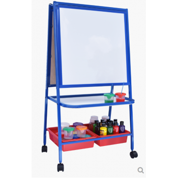 Jr. Double sided Magnetic White Board (2' x 2') | Color Option Blue OR Red