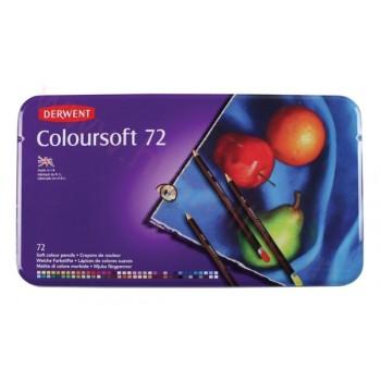 Derwent Coloursoft Pencils 72 Tin